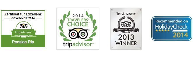 tripadvisor holidaycheck awards