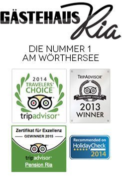 Pension Ria Wörthersee tripadvisor holidaycheck awards