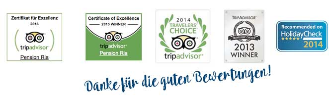 Awards 2016 Pension Ria Woerthersee